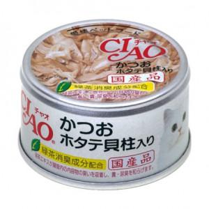成份:  鰹魚,扇貝,扇貝提取物,澱粉,增稠劑,維生素E,綠茶提取物