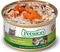 Petssion (比心) 清湯雞肉農莊野菜貓罐3oz