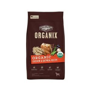 有機穀物全犬糧 – 雞肉燕麥片配方還具備以下優點:  -USDA 有機認證 (最少使用 95%有機原材料)  -首要材料為有機放養雞隻。  -不含玉米、大豆、小麥。  -內含超級食物(superfood),營養豐富含26%優質蛋白質。  -有機燕麥片,有機大麥幫助維持腸道健康  -於美國有機認證廠房生產。