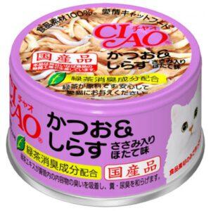 成份:  鰹魚,白飯魚,扇貝提取物,增稠劑,維生素E,綠茶提取物