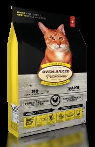 保持健美配方  適合一歲至七歲的任何貓種   讓貓咪保持健美,時刻精神煥發 選用新鮮雞肉塊和深海鮮肉,紅肉混合白肉,滿足貓咪對蛋白質的需求,亦可改善排食習慣。OVEN-BAKED TRADITION 成貓糧 - 北美走地雞配方經由資深寵物營養學家根據成貓膳食營養需要而配製和調節身體機能及肌肉發展十分重要。   此配方含有高質素動物性蛋白質,大利貓咪消化和吸收;不含任何填充物,大大減低過敏機會。   護養關節、保護牙齒 -天然絲蘭精華可減低關節炎,而新鮮菠菜含豐富的鐵質和鈣質,具預防骨質疏鬆的保護牙齒的功效。   保護尿道 -紅莓含大量原花青素,有效趕走尿道細菌,可預防尿道結石或膀胱炎,改善尿道感染問題。   調理腸胃 -新鮮水果及蔬菜提供膳食纖維,能加強消化道功能,幫助排走膽固醇。