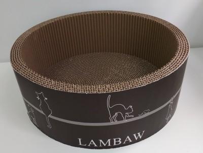 結實瓦通紙抓板  牢固耐用 , 幫助貓咪修理爪  附有貓草一包  桶型抓板尺寸: 40.5 闊 X 15 高 cms