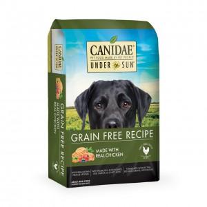 無穀物成犬雞肉配方,精選農場雞作為單一動物蛋白來源,零穀物的多元化營養比例 絕不含動物內臟、副產品、化學防腐劑、維他命K3、人造色素及味精。  - Under The Sun 無穀物成犬雞肉配方,使用雞與高蛋白雞肉粉製成的美味你的狗狗一定會喜歡 -農場養殖雞是無穀物成犬雞肉配方中使用的唯一動物蛋白 -還使用各種農場種植的水果和蔬菜,如青豆和南瓜 -狗狗食譜配方從不使用玉米,小麥,大豆或雞肉副產品 -無穀物成犬雞肉配方狗糧符合AAFCO國際標準