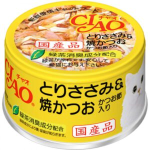 成份:  雞肉,燒鰹魚,鰹魚節,增稠劑,維生素E,綠茶提取物,紅麹色素