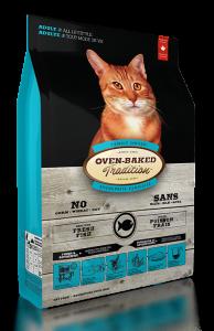 適合一歲至七歲的任何貓種   單一蛋白質 改善過敏體質 從各種鮮魚中獲取健康的動物單一性蛋白質,簡單的天然元素,配合獨特的低溫慢火烘焗法,讓豐富的營養發揮到極致,令貓咪吃出健康!精選的各種野生魚類符合人類食用等級標準,每天新鮮運抵品牌自家工埸,不會添加防腐劑之餘,更嚴格遵循加拿大政府有關法例,確保水銀含量絕不超標。   保護眼睛 -藍莓的花青素是所有水果與蔬菜中含量最高的, 有助增進視力,保持眼睛明亮。   柔順亮麗毛髮 -鮮魚是天然奧米加3及6脂肪酸的來源,有助鎖緊細胞中的水份,防止皮膚乾燥、披毛乾旱,減少痕癢。   促進腸道健康 -吸收多種天然益生菌、蔬菜水果纖維能讓脆弱和敏感腸胃更強壯,有助排出毛球。