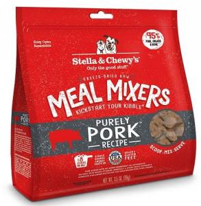 只選最好 -原料,放養豬 -含95%豬肉,營養豐富的器官和骨頭 -有機生果及有機蔬菜 -採用天然維他命及礦物質 -內含益生菌及抗氧化功效 -100%全面均衡營養配方  不添加多餘物質 -不添加任何激素及抗生素 -無穀物及不添加任何填充物 -不含麩質 -不含人工防腐劑及色素
