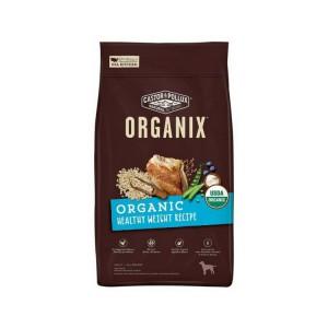 有機穀物全犬糧 – 雞肉燕麥片配方還具備以下優點:  -USDA 有機認證 (最少使用 95%有機原材料)  -首要材料為有機放養雞隻。  -不含玉米、大豆、小麥。  -內含超級食物(superfood),營養豐富  -比雞肉燕麥片配方低脂 20%  -於美國有機認證廠房生產。    我們的有機成份在整個生產的過程中不添加任何化學農藥、化肥、人工防腐劑、生長激素或抗生素。  我們的有機乾糧配方不含玉米、小麥或大豆;換句話說,我們只選用最好的成份!