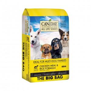 -Canidae 全線產品絕不含動物內臟、副產品、化學防腐劑、維他命 K3、人造色素及味精。 -Canidae 雞肉狗糧以人類食用級數、不含抗生素、荷爾蒙激素之鮮雞肉,以及沒有殘餘農葯原粒紅糙米為基本主要優質蛋白質原素, 以紅肉加白肉的配方為你的狗狗提供均衡營養。 -Canidae 更嚴格控制蛋白質含量不少於 18。5%,確保胰臟能制造足夠的胰島素,預防糖尿病;脂肪含量只有 8。5% ( 每杯卡路里不多於 400 me) ,並保證低磷、納含量。  此外,Canidae 狗糧中添加了各種必須的營養及礦物質,以確保狗狗能擁有健康活潑的體魄。  *      天然純人類食用級數芥花籽油及太陽花籽油,促進毛囊健康,防止毛髮大量脫落 *不含小麥、玉米或大豆 *木瓜酵素、紫花苜蓿芽菜、黑麴益菌 - 有助分解肉類蛋白質,清除體內毒素,不會導致皮膚及食物敏感 *腸道益生菌配方及全天然亞麻籽纖維素 - 可將糖代謝為乳酸,使腸道形成酸性狀態,除幫助消化、吸收營養、保持口氣清新外,更可抑制體內害菌生長 *Omega 6 及 Omega 3 脂肪酸 - 增加狗狗皮毛的柔軟度及光澤,讓毛色更亮麗 *膽鹼 - 促進肝功能及脂肪代謝,協助血液中好的膽固醇的輸送,清除毒素 *絲蘭精華 - 有效減少排泄物臭味